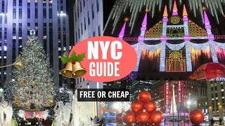New York City Christmas Travel Guide // Free or Cheap Things to Do