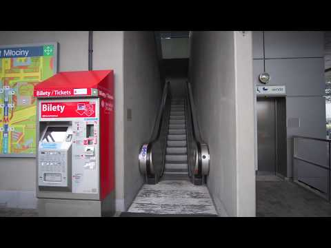 Poland, Warsaw, Młociny bus station, 2X escalator