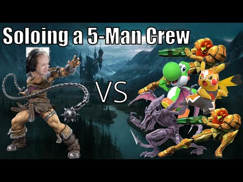 Soloing a 5-Man Crew in Smash Ultimate |