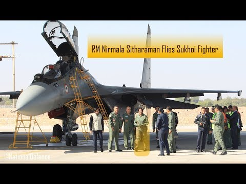 Raksha Mantri Nirmala Sitharaman Flies Sukhoi 30MKI Fighter Jet