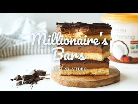 Vegan & Gluten-Free Millionaire's Bars