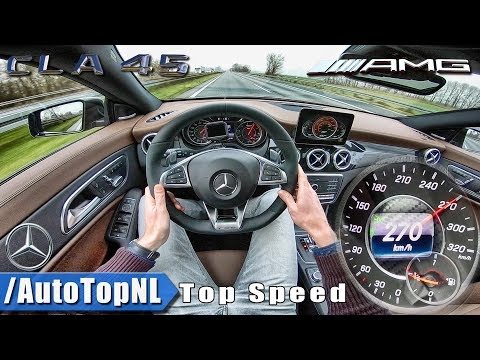 Mercedes AMG CLA 45 AUTOBAHN POV | ACCELERATION & TOP SPEED 270km/h by AutoTopNL