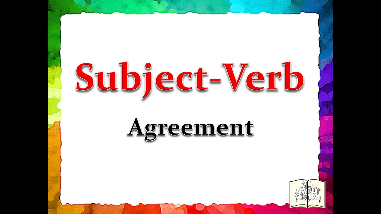 Animated English Lesson Subject Verb Agreement Part 1copyright