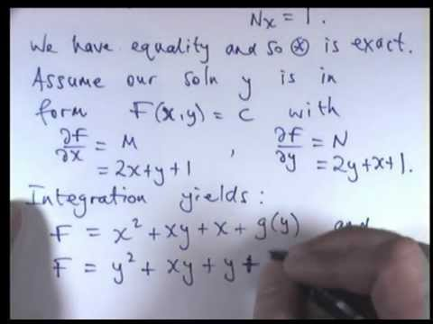 How to solve exact differential equations - YouTube
