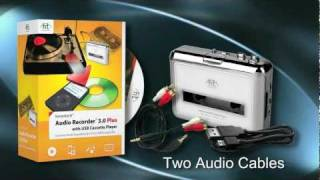 honestech Audio Recorder 3.0 Plus with USB Cassette Player