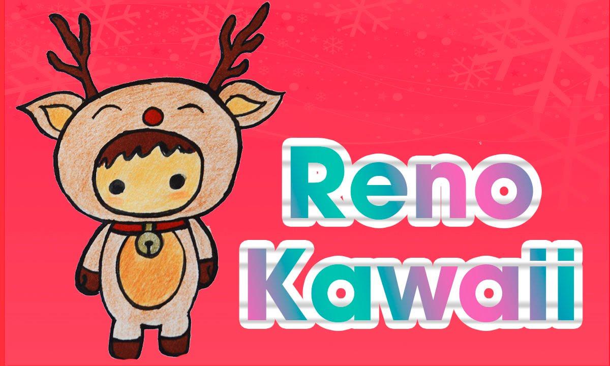 Dibuja un reno kawaii navide o dibujos de navidad aprende for Dibujos de renos en navidad