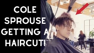 Cole Sprouse Getting a Haircut - TheSalonGuy