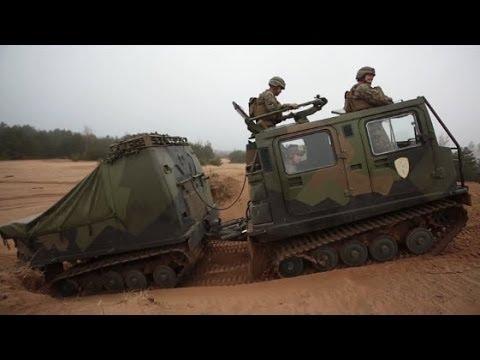 LATVIA!  Marines Familiarize Themselves with Latvian Bandvagn 206 Tracked Military Vehicles!