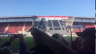 Dak stadion AZ Alkmaar ingestort
