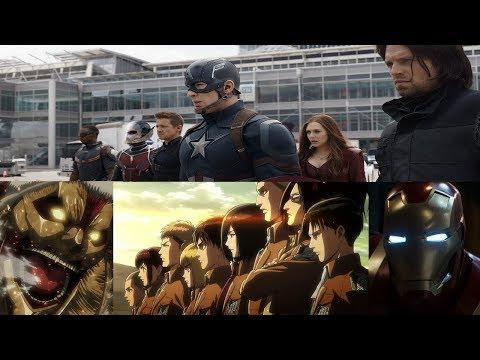 Attack on Titan s2 opening Sasageyo Captain America version