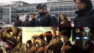 Captain America anime opening Attack on Titan Sasageyo