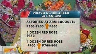 UB: Bulaklak sa iba't ibang valentine items, pwede nang mabili sa Dangwa
