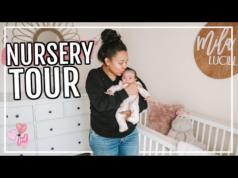 BABY GIRL'S NURSERY TOUR! | Page Danielle