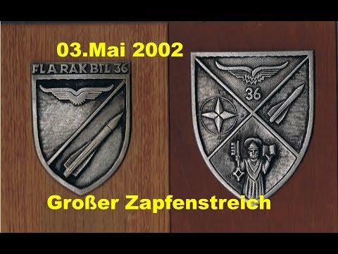 End of FlaRak 36 Großer Zapfenstreich am 03.05.2002