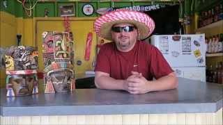 How To Make A Mexican Blue Martini | Backyard Bartender | Tiki Mask