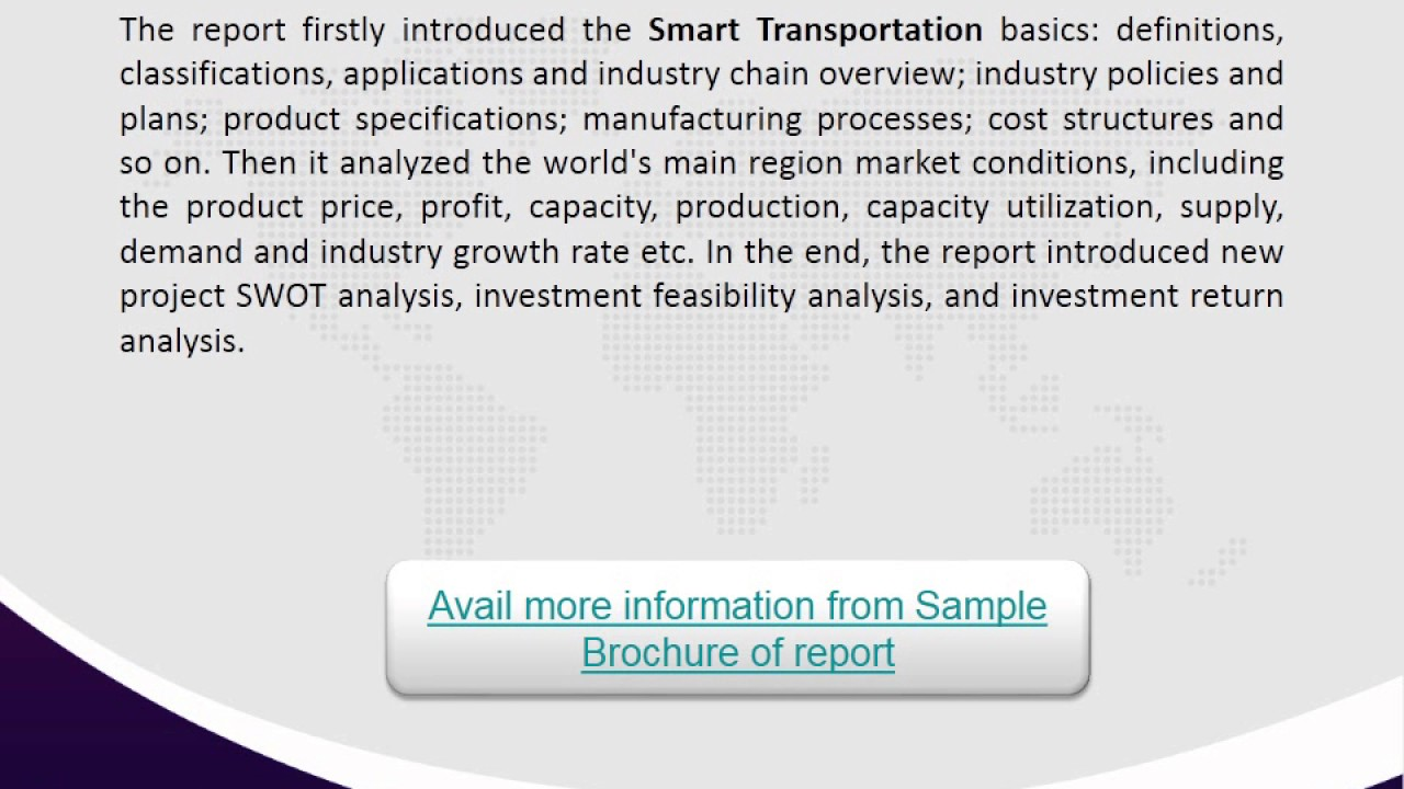 Global Smart Transportation Market - Industry News, Applications and Trends!