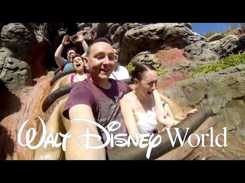 Front Row & Getting Soaked On Splash Mountain at Magic Kingdom. Fun at Typhoon Lagoon - DisneyWorld
