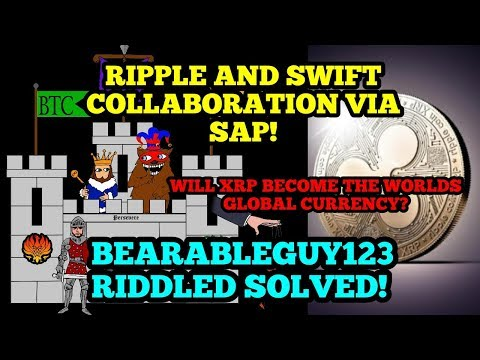 Ripple And Swift Collaborate Via SAP! - Bearableguy123 Riddle Solved! - Ripple XRP News