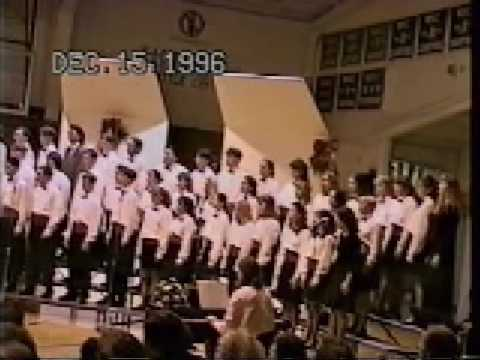 Shelby High School Concert Choir and Concert Band 1996 Christmas Medley.