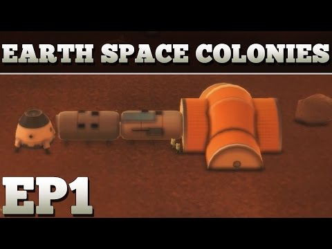 Earth Space Colonies Part 1 - First Impressions - Lets Play Earth Space Colonies Gameplay