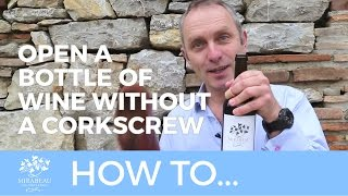 Mirabeau Wine // How to open a bottle of wine - without a corkscrew thumbnail