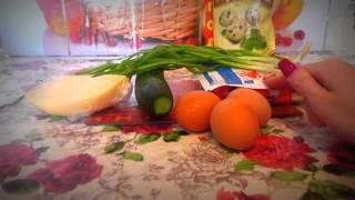 Салат с крабовым мясом и огурцом. Быстро, бюджетно и вкусно