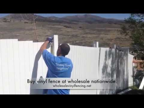 Install Vinyl Fence On A Hill Youtube