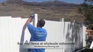 Install Vinyl Fence On A Hill