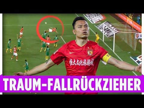 Cannavaro-Schützling Gao Lin mit hammer Fallrückzieher