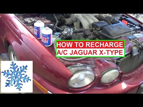 Jaguar X-Type AC System Recharge  How to charge the Airconditioner. Jaguar X TYPE A/C