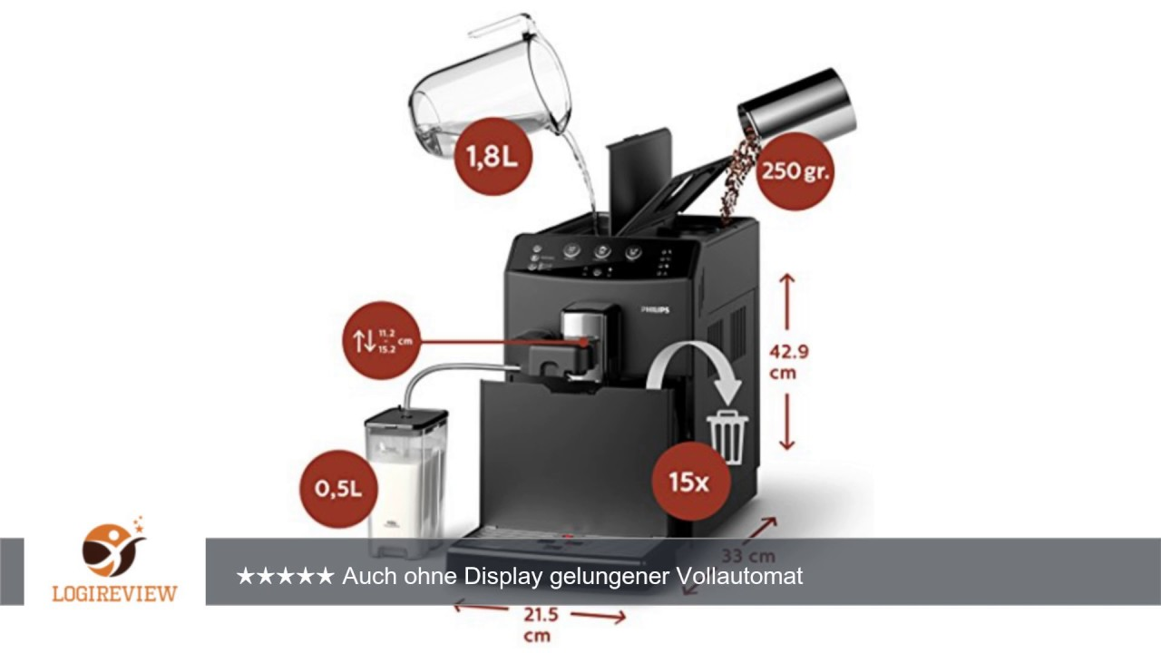philips hd8829 01 3000 serie kaffeevollautomat cappuccino auf knopfdruck schwarz youtube. Black Bedroom Furniture Sets. Home Design Ideas
