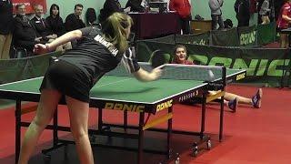Полина МАЛЮГИНА - Татьяна ГАРНОВА Настольный теннис, Table Tennis