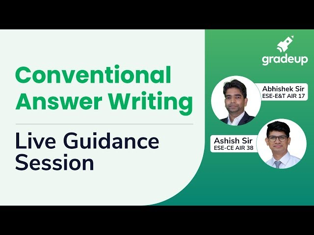 IES/ESE Main 2019 Conventional Answer Writing Live Guidance Session