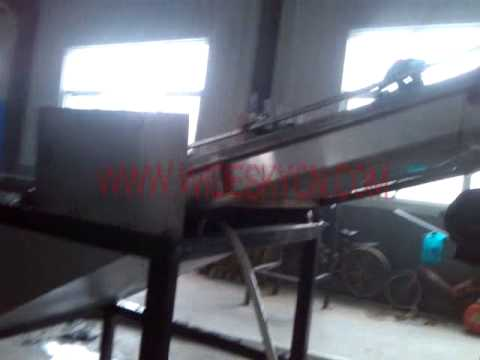 SQUEEZING MACHINE+HDPE FILM+500KGS QINGDAO CLIENT'S FACTORY