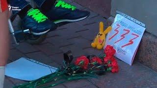Акция в память о Беслане. Задержание у администрации Путина