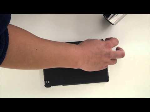 iPad Mini Slate Jet Black Full Body Wrap Skin Kit by Stickerboy