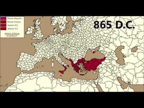 Roman empire - territorial expansion (509 a.c / 1453 d.c.)