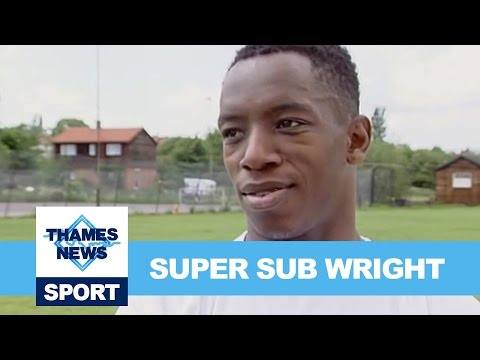 Footballer Ian Wright Interview Super Sub! Archive Sports Footage Thames News