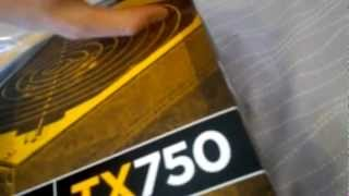unboxing corsair enthusiast series tx750 v2 750w power supply