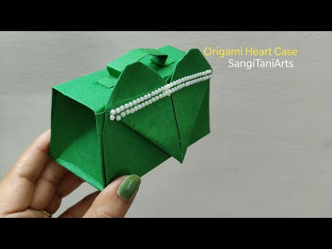 #Origami heart case | paper box purse | gift bag | #diy