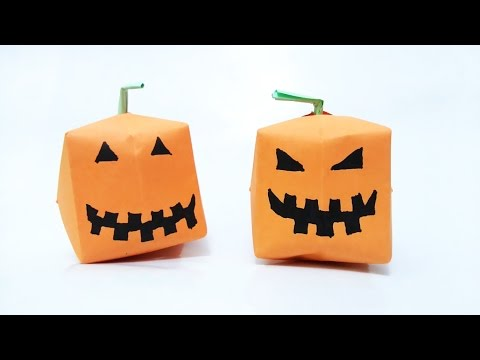 How to make: Origami Pumpkin