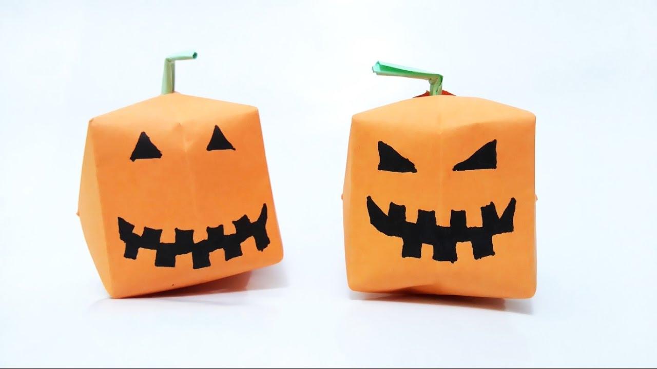 how to make origami pumpkin youtube