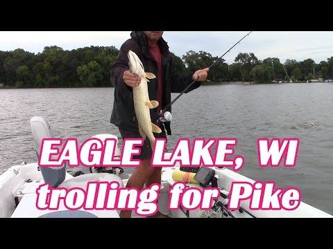 Eagle Lake, Racine County WI  Trolling For Pike