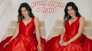 prom get ready with me & dress haul!