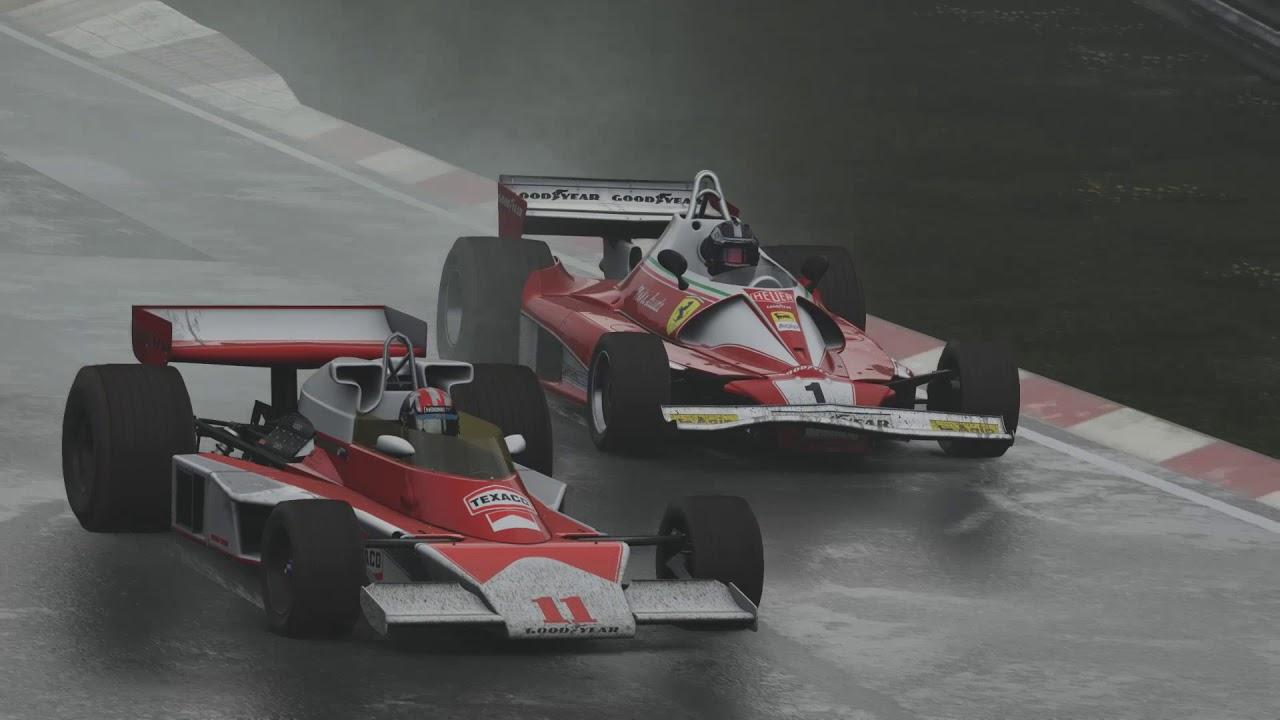 Niki Lauda VS James Hunt Nurburgring 1976 YouTube
