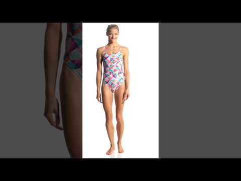 221991c4af Arena Women s Tropical Challenge MaxLife Thin Strap Open Back One Piece  Swimsuit