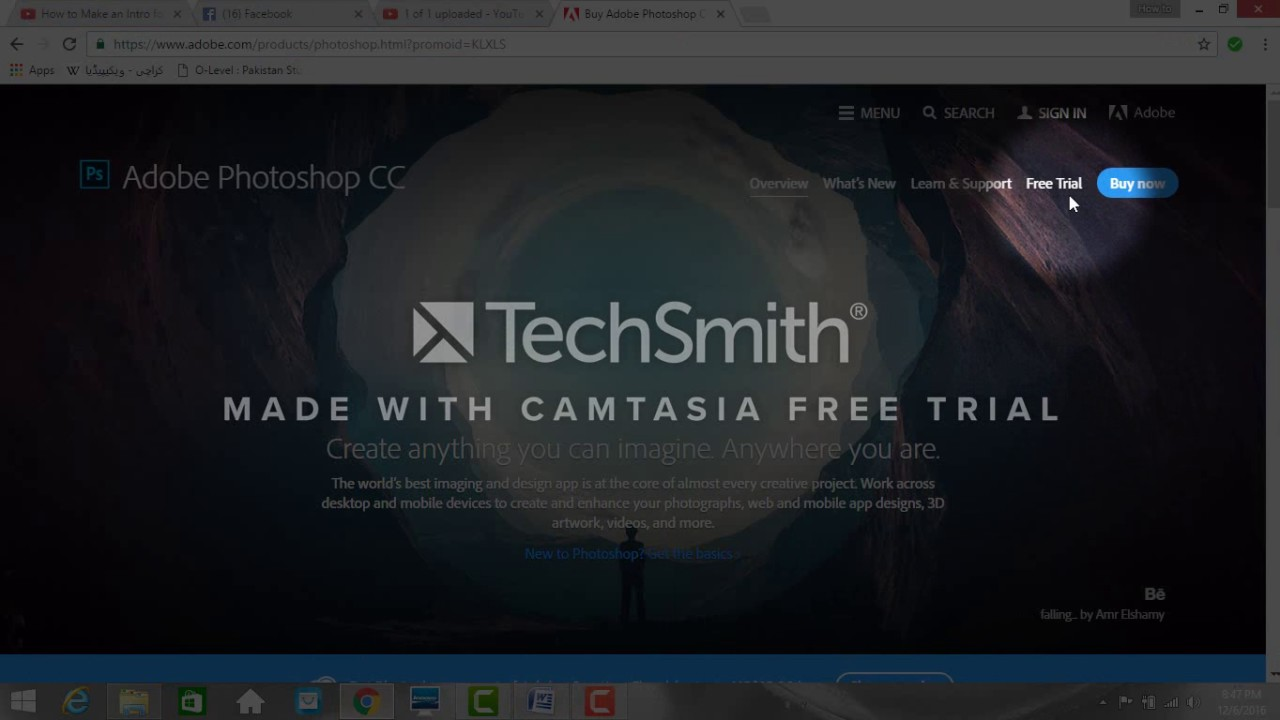 How to download adobe photoshop cc trial version