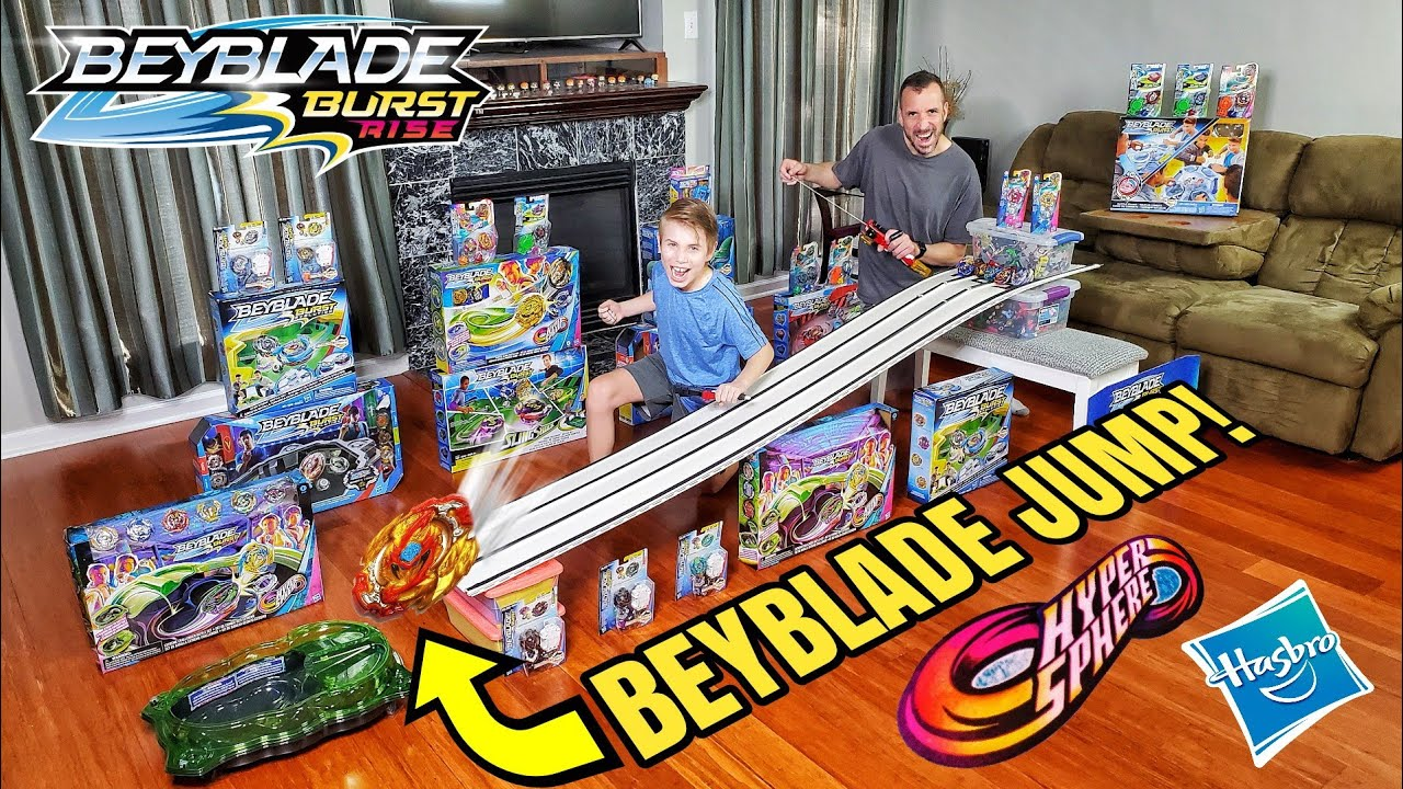 *SICK* Beyblade Burst Extreme JUMP Challenger RACE TRACK Crashing Stadium - FLYING BEYBLADES!