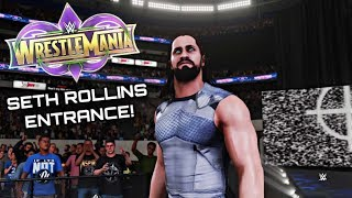 SETH ROLLINS WRESTLEMANIA 34 ENTRANCE! [WWE 2K18]