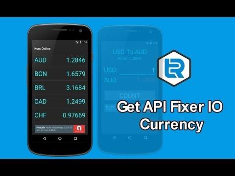 Android Studio - Get API fixer io Currency